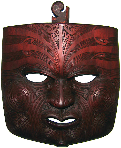 Then my wife saw a beautiful Moko (Maori face tattoos) Mask by John Collins,