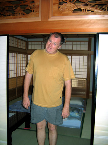 Me in a traditional Japanese doorway