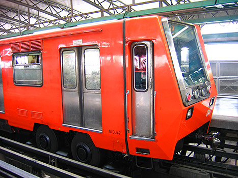 The trains have rubber wheels