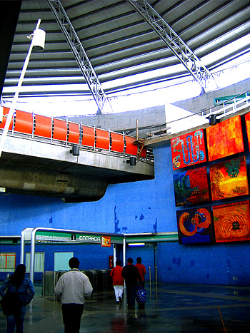 Most of the metro stations have art on display