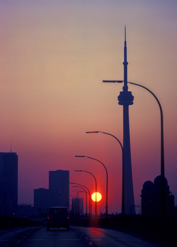 Sunrise over the CN tower