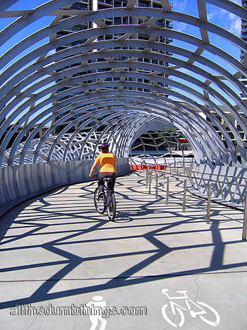 Cycle path bridge