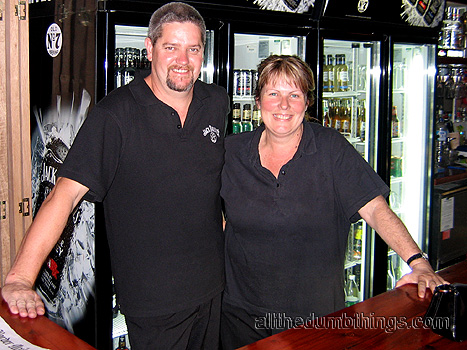 Phil and Kerrie the owners of the Ironbark Tavern