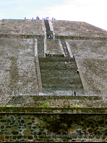 Stairway up the Pyramid of the Sun