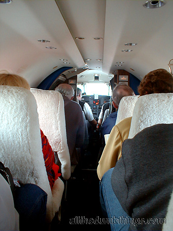Inside of a Fairchild Metro 23 Airliner