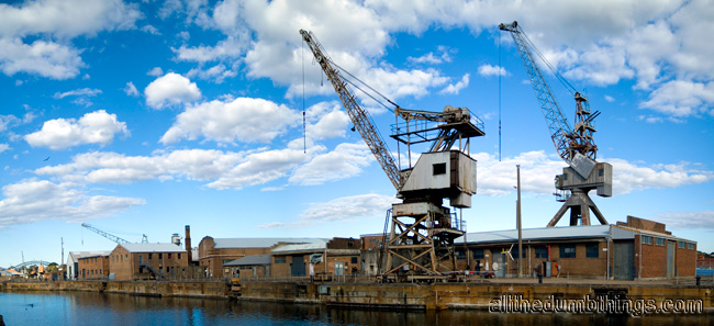 Cranes along Fitzroy dock
