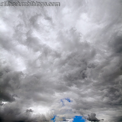 The darkness of the clouds mirrors my feelings towards scraper sites leeches spammers who are the scourges of the internet