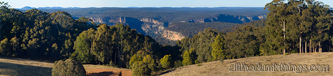 The property backs onto a large national park