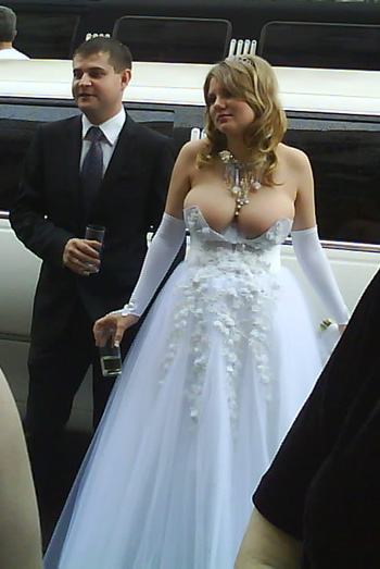 I 39ve seen a few very bad wedding gowns in my day but this one is a real