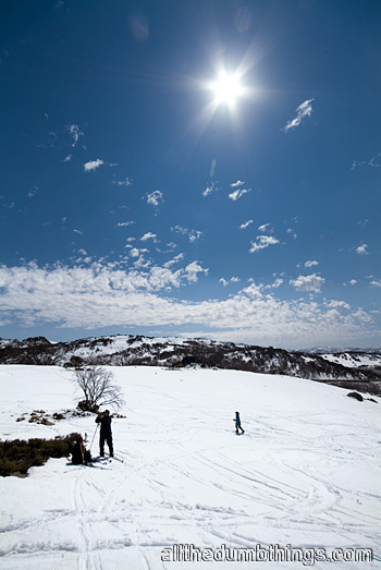 Playing around on the the blue trail at Perisher