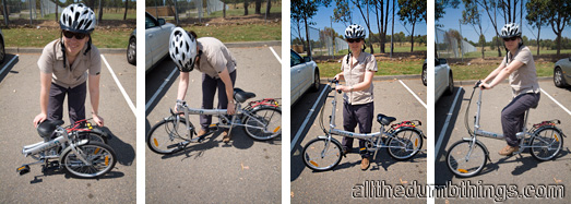 Engogirl shows how easy it is to get the bikes ready to ride