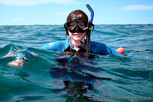 Engogirl and the latest in snorkelling fashion