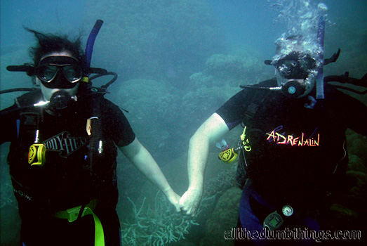Engogirl and the razzbuffnik go scuba diving