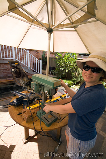 Engogirl likes using the drill press