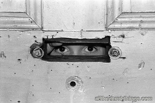 The kids would call to us through the mail slot
