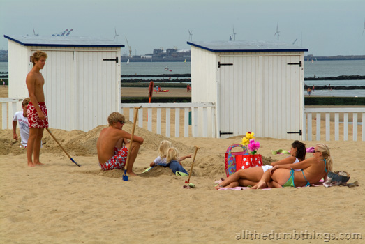 Lets get a shed on the beach and dig holes near it